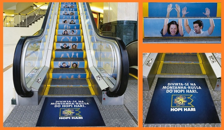 Festival Escalator Marketing Ideas