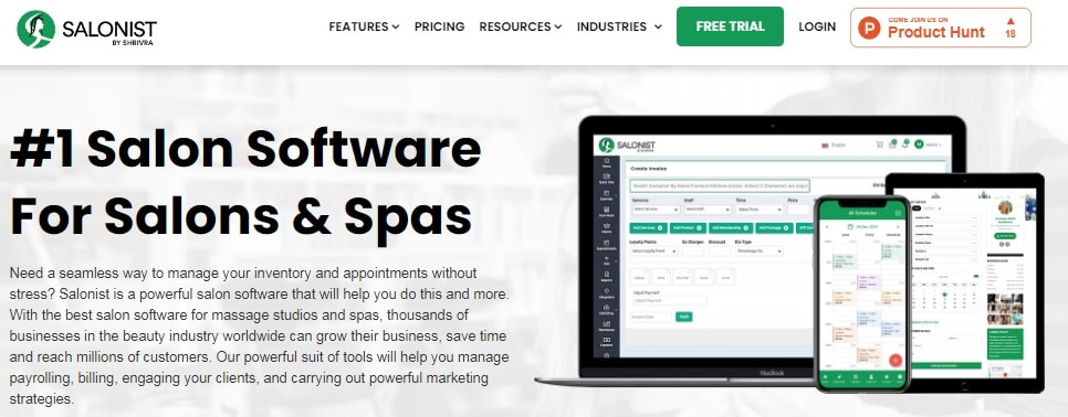 Salonist CRM Software
