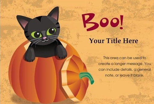 Halloween image emails and SMS